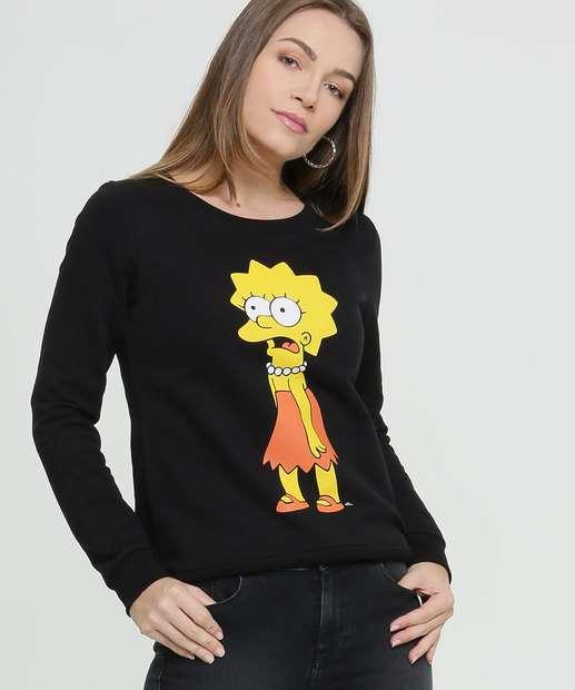 Image_Blusão Feminino Moletom Estampa Lisa Simpsons