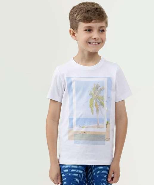 Image_Camiseta Infantil Estampa Praia Manga Curta MR