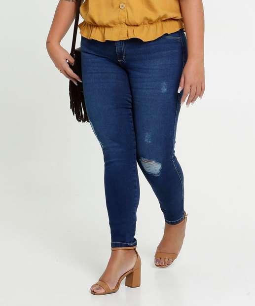 Image_Calça Jeans Destroyed Skinny Feminina Plus Size