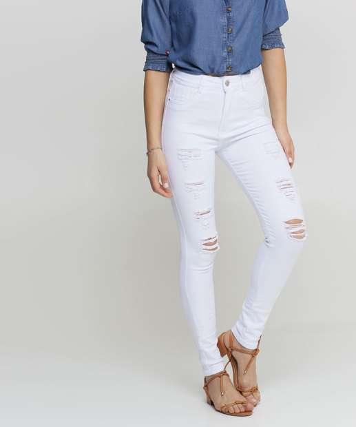 Image_Calça Jeans Destroyed Skinny Feminina Sawary