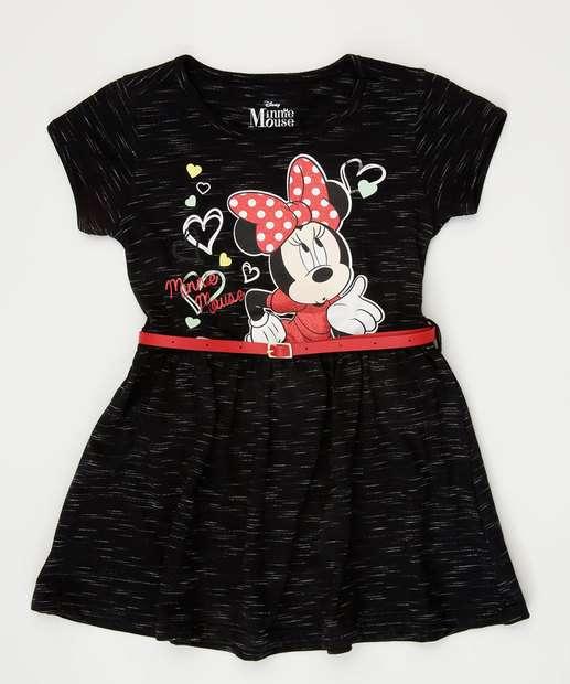 Image_Vestido Infantil Flamê Estampa Minnie Cinto Disney