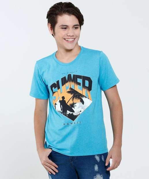Image_Camiseta Juvenil Estampa Praia Marisa