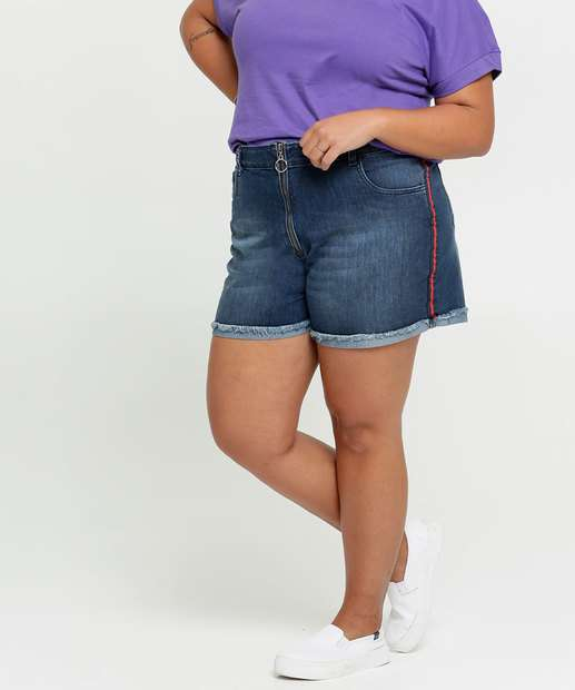 Image_Short Feminino Jeans Faixa Plus Size Razon