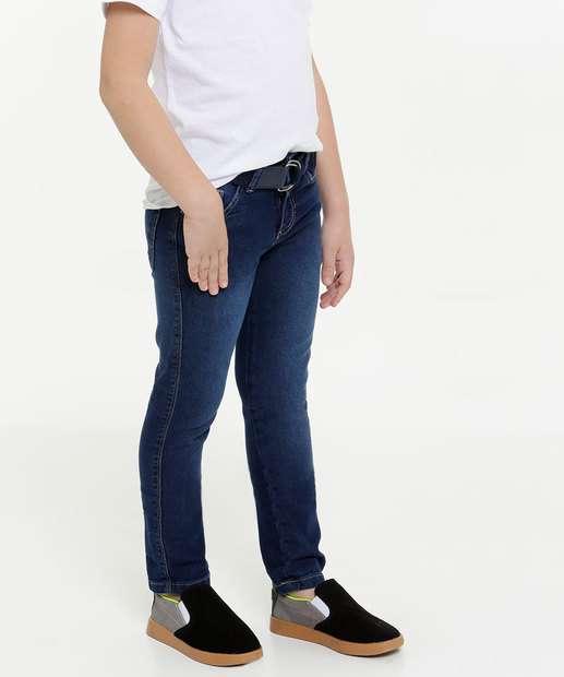 Image_Calça Infantil Jeans Cinto MR Tam 4 a 10