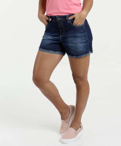 Image_Short Feminino Jeans Barra Desfiada Marisa