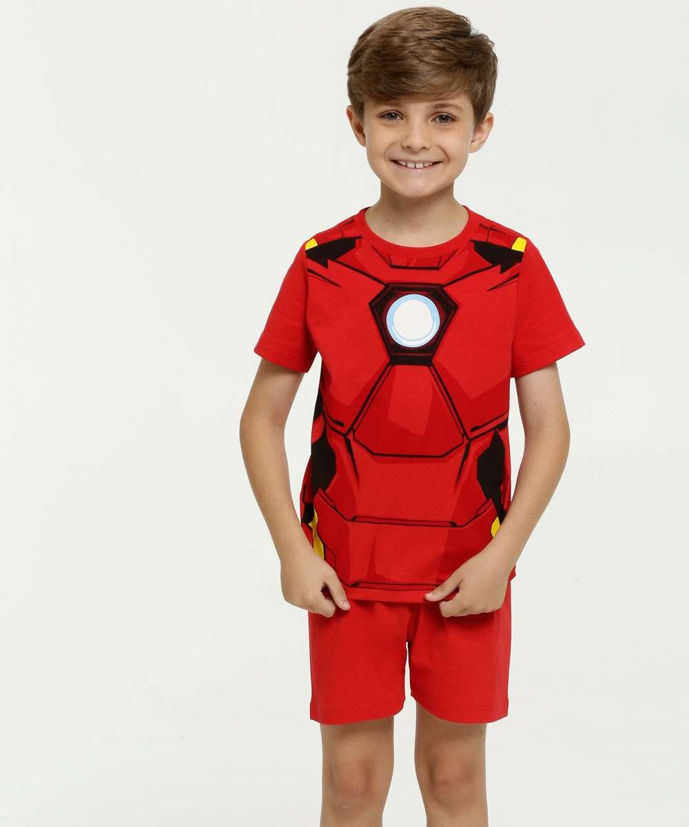 Pijama Infantil Estampa Homem de Ferro Marvel