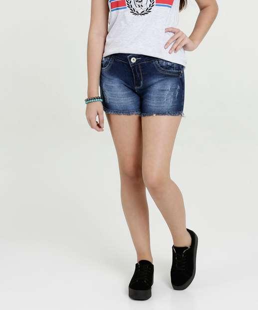 Image_Short Juvenil Jeans Puídos