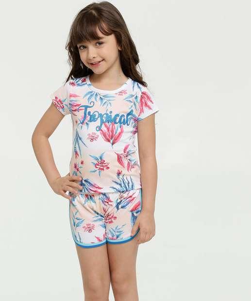 Image_Conjunto Infantil Estampa Floral Manga Curta Brandili