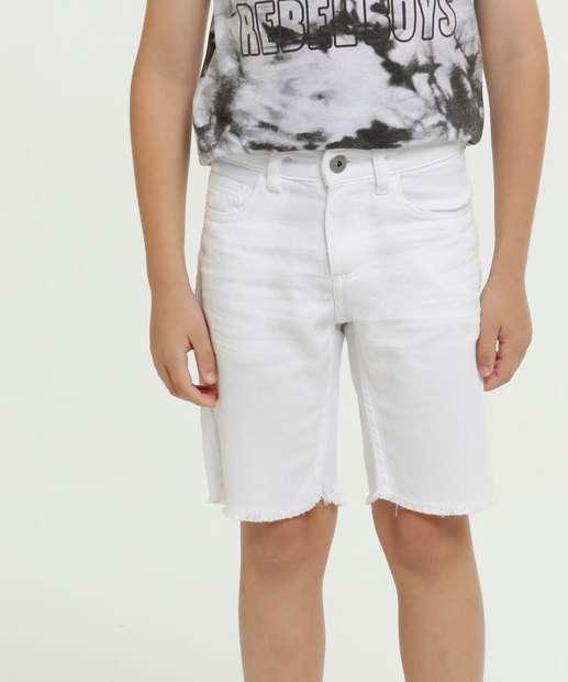 Image_Bermuda Infantil Jeans Barra Desfiada MR