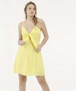Vestido Feminino Amarração Alças Finas Marisa