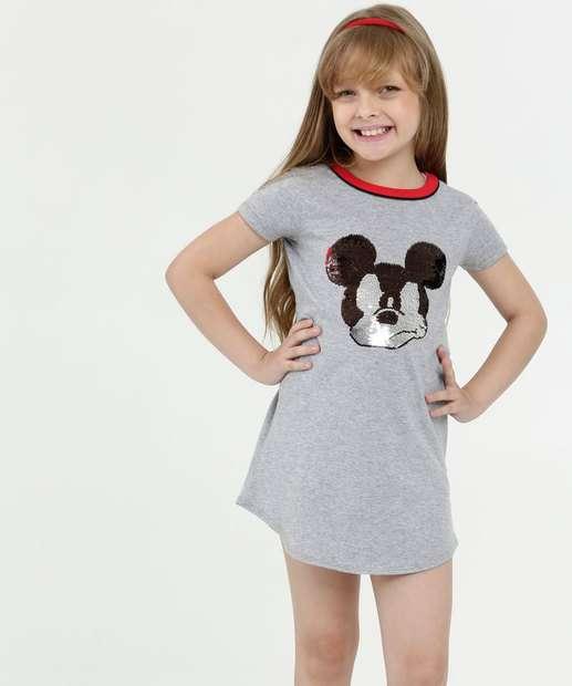 Image_Vestido Infantil Paetê Reversível Mickey Disney