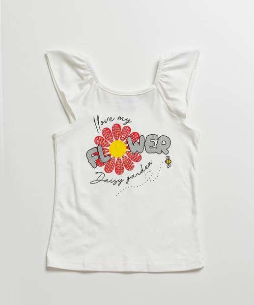 Image_Blusa Infantil Manga Curta Estampa Floral Tam 1 a 3