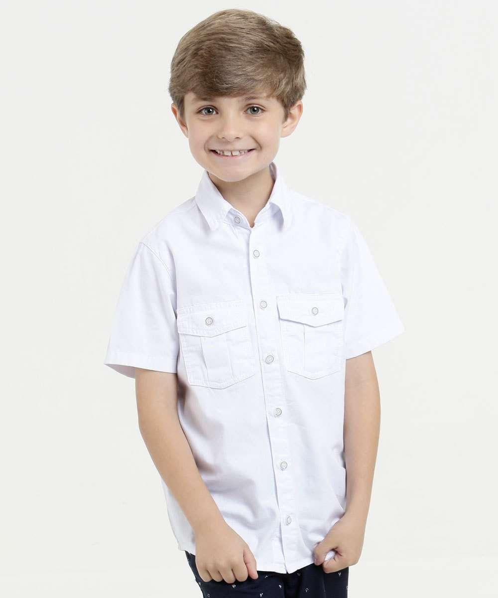 Camisa Infantil Sarja Manga Curta Mr