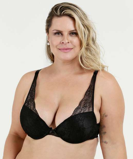 Image_Sutiã Feminino Push Up Renda Plus Size Marisa