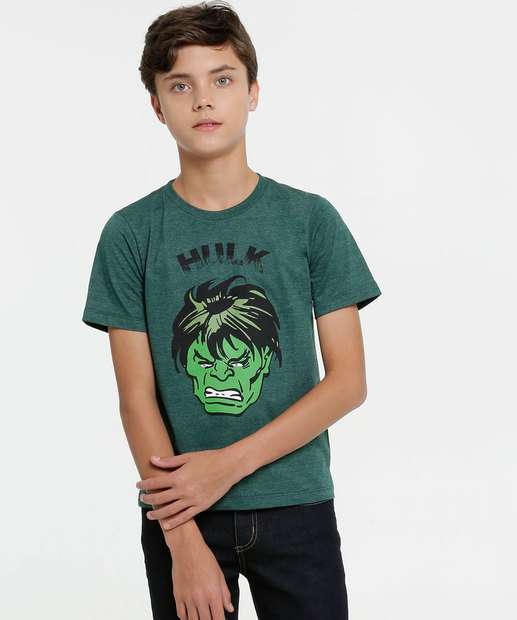 Image_Camiseta Juvenil Hulk Manga Curta Marvel