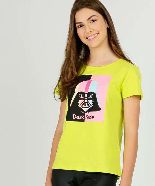 Image_Blusa Juvenil Manga Curta Star Wars Disney Tam 10 a 16
