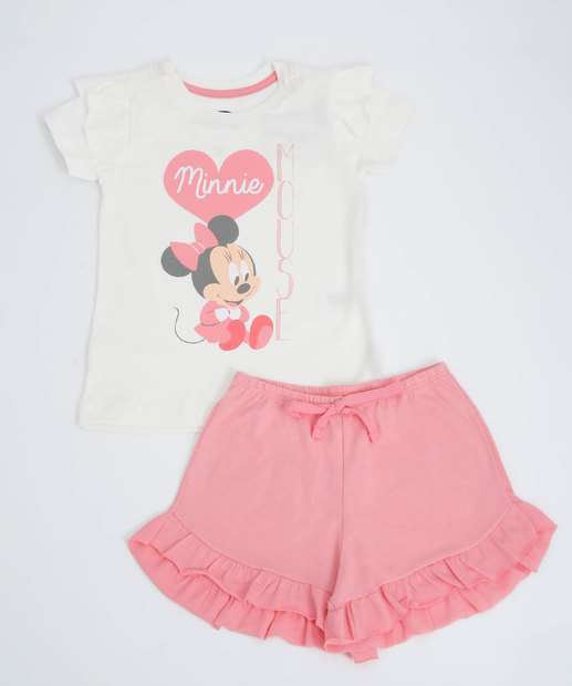 Image_Pijama Infantil Estampa Minnie Manga Curta Disney