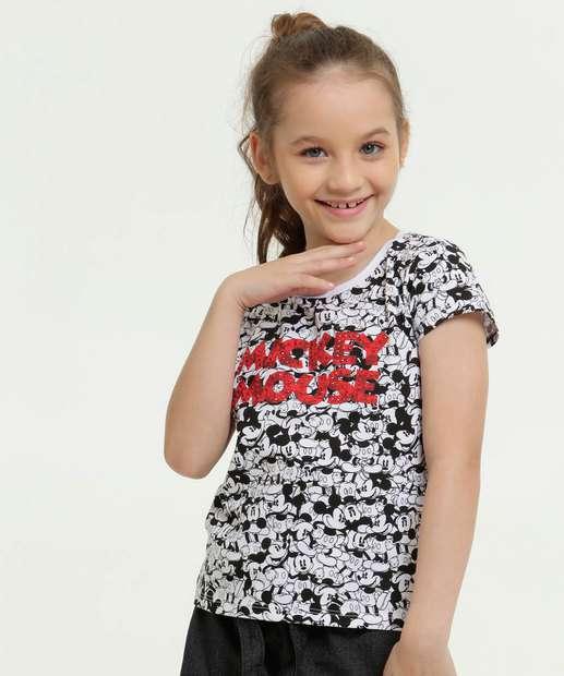 Image_Blusa Infantil Estampa Mickey Strass Manga Curta Disney