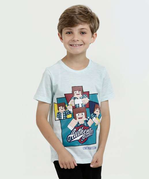 Image_Camiseta Infantil Flamê Estampada Manga Curta Authentic Game