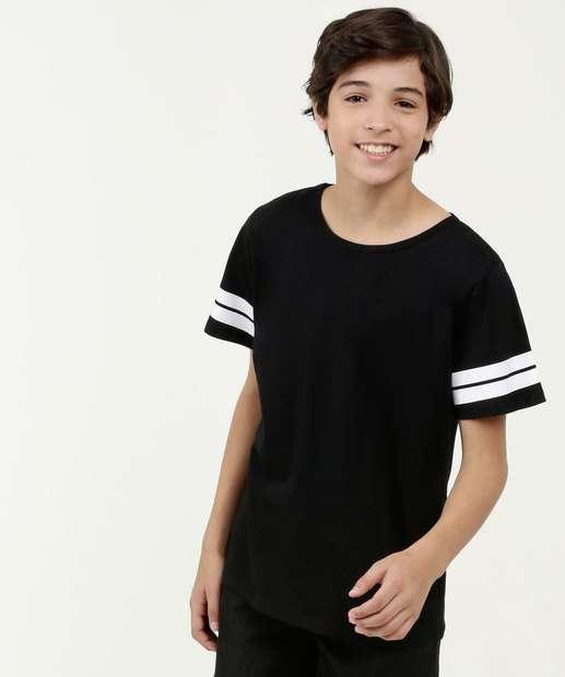 Image_Camiseta Juvenil Estampa Listra Manga Curta