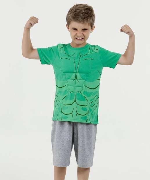 Image_Conjunto Infantil Músculos Hulk Manga Curta Marvel
