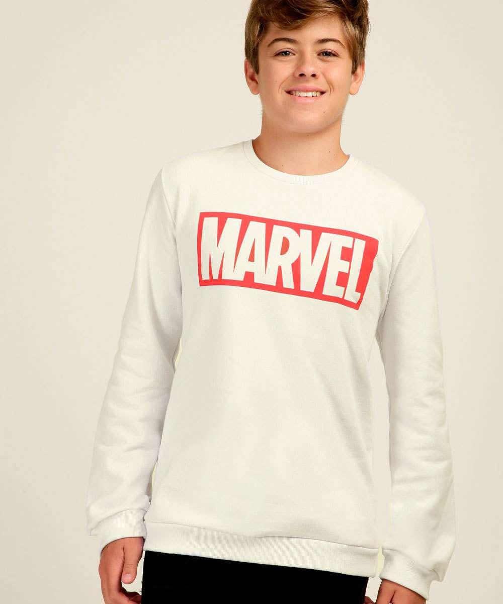 Blusão Juvenil Moletom Estampado Marvel Tam 10 a 16