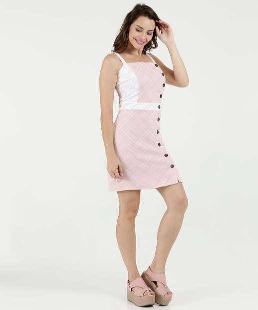 Image_Vestido Feminino Estampa Quadriculada Gups
