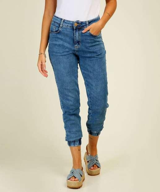 Image_Calça Jogger Feminina Jeans Bolsos Sawary