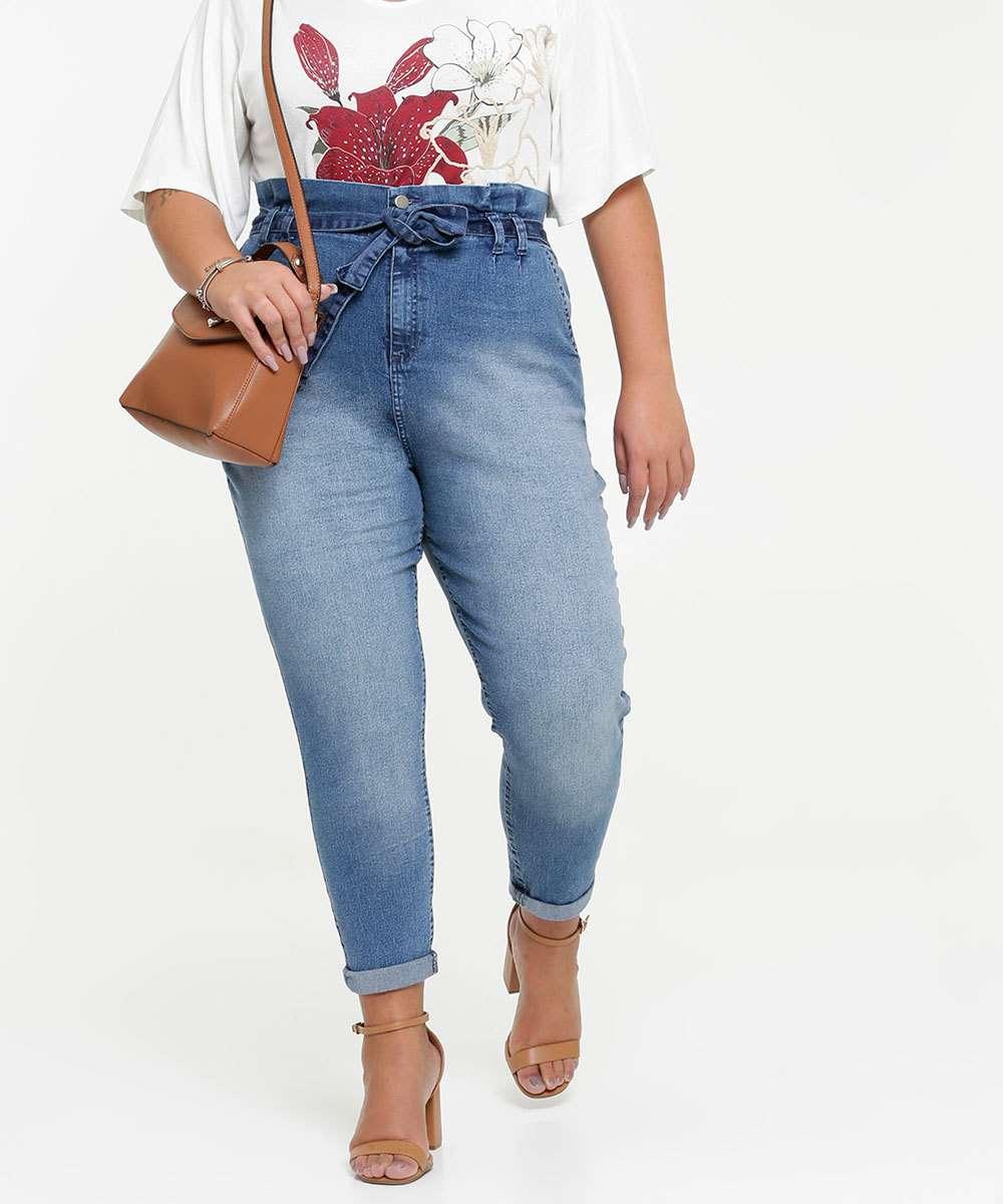 Calça Plus Size Jeans Clochard Feminina Marisa