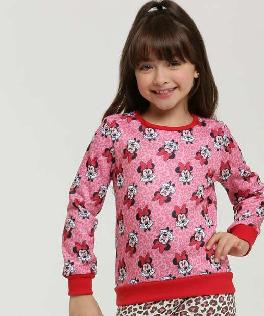 Image_Blusão Infantil Moletom Animal Print Minnie Disney