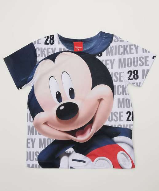 3dd1ca0a62 Camiseta Infantil Estampa Mickey Manga Curta Disney