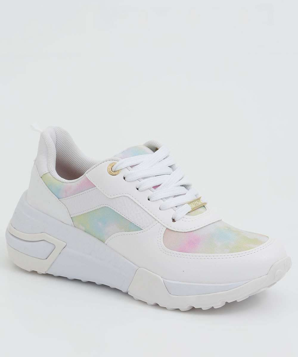 Tênis Feminino Chunky Sneaker Estampa Tie Dye Vizzano