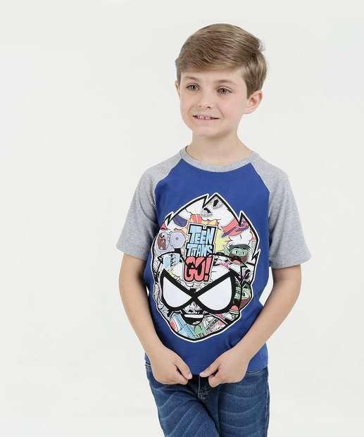 Image_Camiseta Infantil Os Jovens Titãs Manga Curta Warner Bros