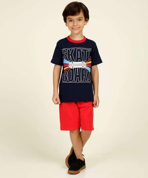 Image_Conjunto Infantil Estampa Skateboard Bem Vestir Tam 4 a 10