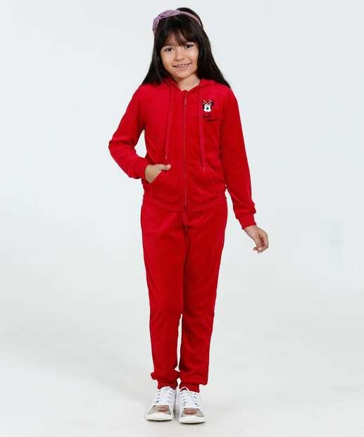 Image_Conjunto Infantil Plush Bordado Minnie Capuz Disney