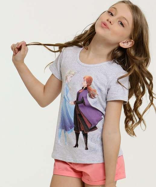 Image_Blusa Infantil Estampa Frozen Manga Curta Disney