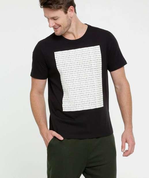 Image_Camiseta Masculina Estampa Quadrado Manga Curta MR