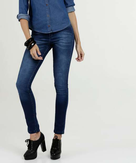 Image_Calça Feminina Jeans Stretch Cigarrete Razon