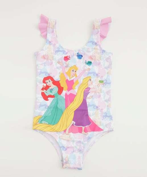 Image_Maiô Infantil Babado Estampa Princesas Disney