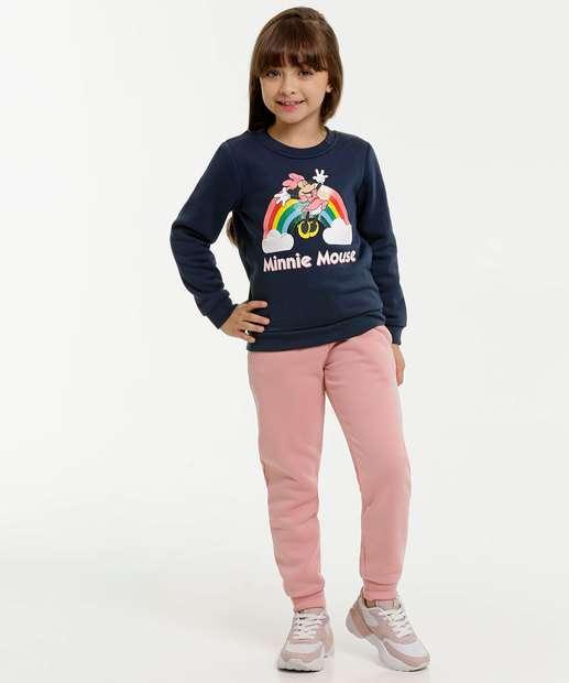 Image_Conjunto Infantil Moletom Minnie Disney