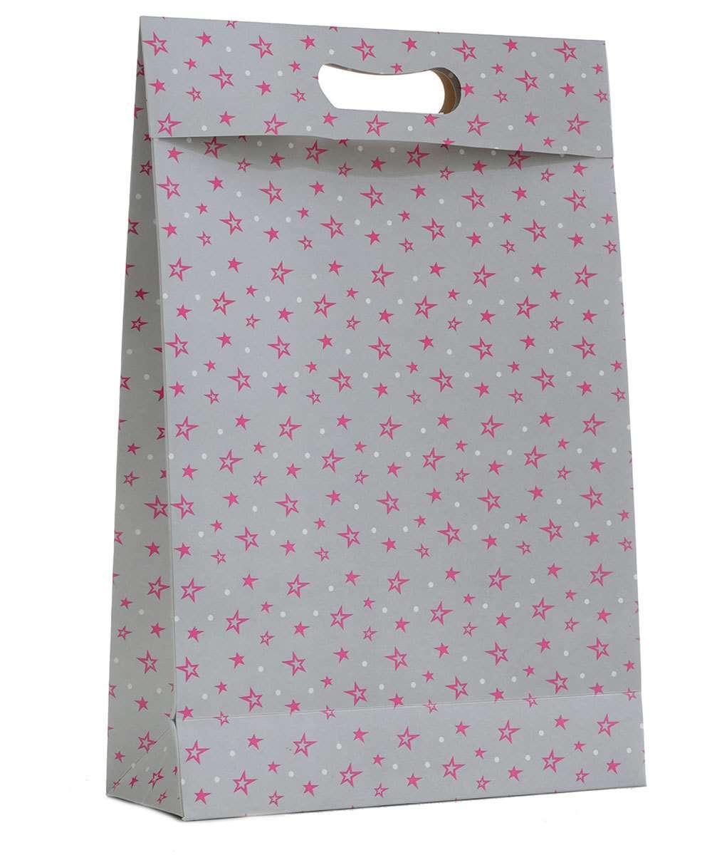 Embalagem presente sacola estampa estrelas Marisa