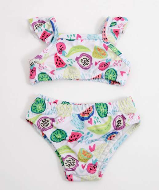 Image_Biquíni Infantil Bebê Estampa Frutas Alças Finas