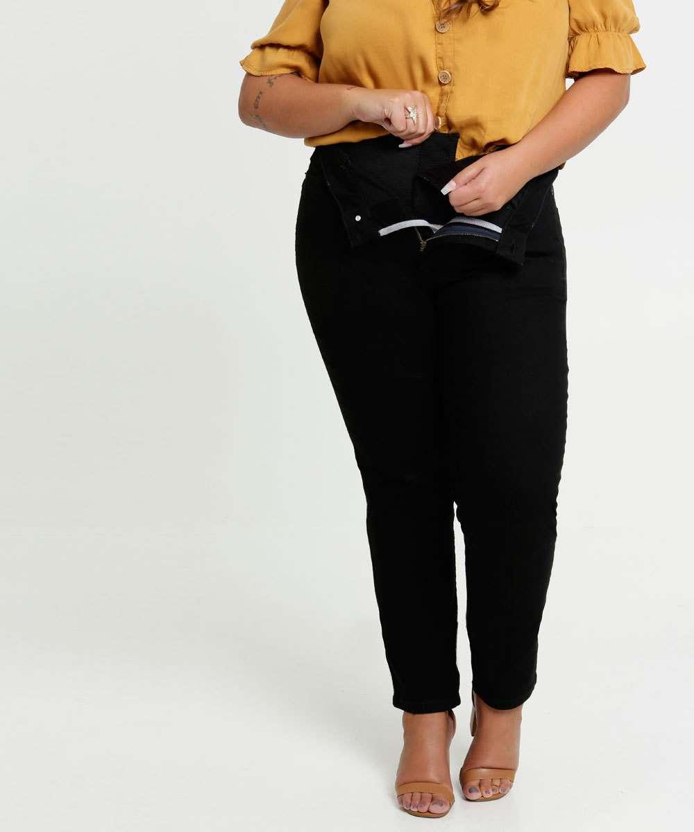Calça Plus Size Feminina Sarja Modeladora