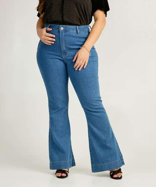 Image_Calça Plus Size Feminina Flare Uber Jeans