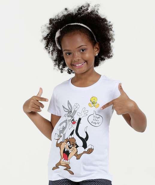 Image_Blusa Infantil Estampada Manga Curta Looney Tunes