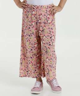 Calça Infantil Pantacourt Floral Marisa