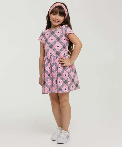 Image_Vestido Infantil Estampa Xadrez Marisa Tam 4 a 10