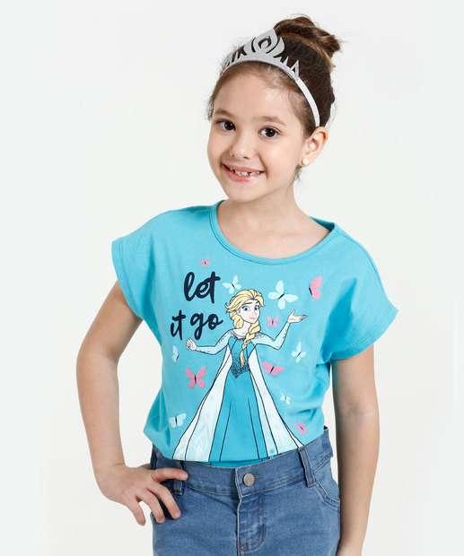 Image_Blusa Infantil Estampa Elsa Frozen Coroa Disney