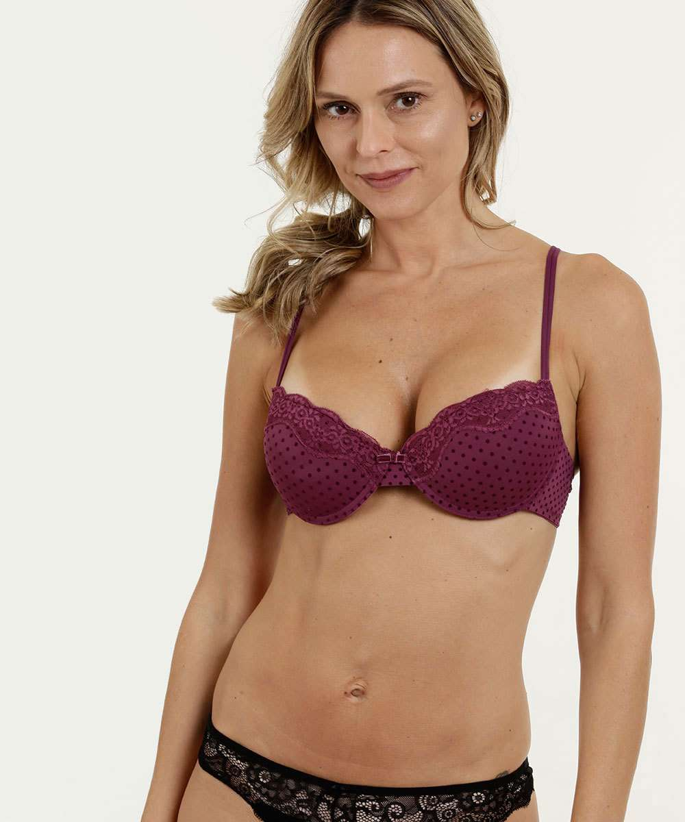 Sutiã Feminino Push Up Flocado Marisa