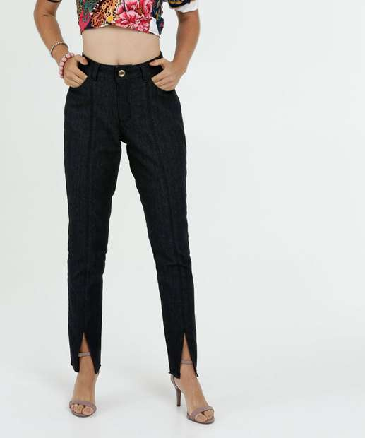Image_Calça Feminina Jeans Boot Cut Fenda Gups